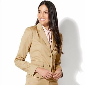 TWO-BUTTON JACKET Beige Size 4